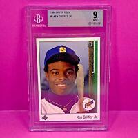 KEN GRIFFEY JR 1989 UPPER DECK ROOKIE #1 BGS 9 MINT CENTERED RC CARD HOF