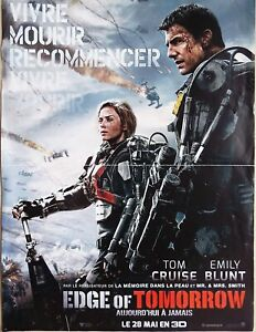 Edge of Tomorrow 2014 Tom Cruise & Emily Blunt Original French Small Poster