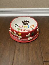 New listing Santa Paws Ceramic Dog Bowl Holiday Heavy Diameter: 6�, Height: 3�