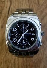 Pulsar by Seiko 7T62-X070 Chronograph Watch, Stainless Steal, Black Dial, Alarm
