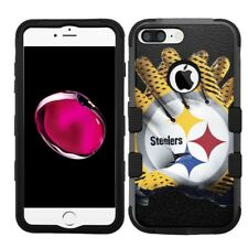 for iPhone 8 Plus Rugged Rubber+Hard Hybrid Case Pittsburgh Steelers #Glove