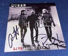 Brian May Roger Taylor Queen Signed Live Album CD Lambert
