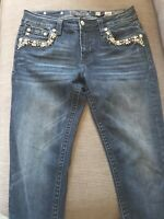 Womens Miss Me Country Mid-Rise Skinny Denim Jeans Ladies Size 30
