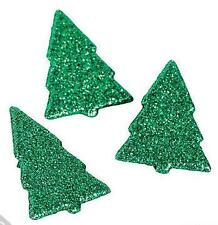 8 Glitter Christmas Tree Brads Scrapbooking  Other Crafts New Holiday Green