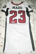 Mossis Madu #23 CFL Ottawa RedBlacks Game Worn Used New Era White Jersey w/COA