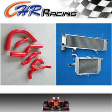 ALLOY radiator AND hose FOR HONDA RVF400 NC35 NC30 VFR400 lower with fan bracket