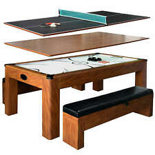 Sherwood 7-ft Air Hockey Table w/Benches