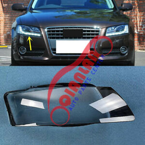 For Audi A5 2008-2012 Right Side Headlight Lens Cover + Sealant Glue Replace