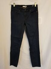 Tory Burch Jean Crop Leggings Tag Size 27 Actual 28 Dark Blue Skinny Slim (3)