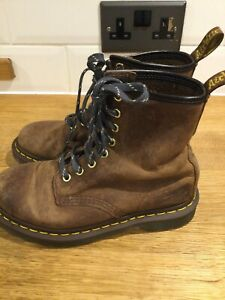 Doc Martens 1460 Brown Leather Boots Uk4/37 8hole Lovely Unisex Boots