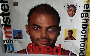 Vintage Nike Force Poster 90s Kevin Robinson Neighborhood charles Barkley FINED