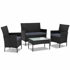 Gardeon ODFPATIO17007BKAB Outdoor Table & Chair Set - 4 Piece