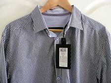 Jack & Jones Premium Men's LS Dave Shirt Blue and White Check Size XL Slimfit