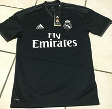 $90 Official Adidas 18/19 Real Madrid Away Black Jersey CG0584 Men's Size XS