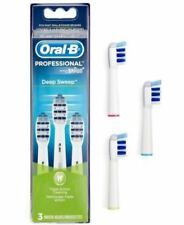 New BRAUN ORAL B Professional DEEP SWEEP 3 Replacement Brush Heads