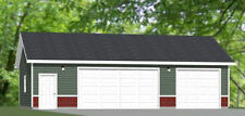 40x24 3-Car Garage -- 960 sq ft -- PDF Floor Plan -- Model 1J