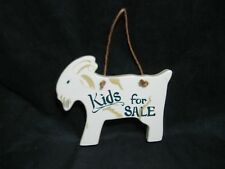 Goat Shaped Wooden Sign Kids for Sale Hand Painted Tender Heart Treasures 1989