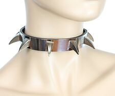Full Metal Claw Spike Punk Goth  Collar Genuine Leather Punk Horror Haloween