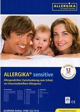 Allergika Sensitive Matratzenbezug 100x200x20cm Allergiker Bettwäsche Encasing