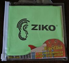 New Guitar Cloth & Musical Instrument Wipe  Green Ziko DG-1185 Clean and Protect