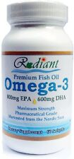 Max-Strength 1,500mg Omega-3 Fish Oil (800mg EPA and 600mg DHA); 60 Softgels