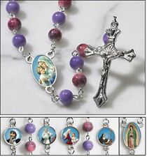 Saints for Girls Rosary NEW from Milagros SKU TS259