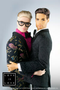 Fashion Royalty LOVE IS LOVE Gift Set Cabot Clark and Milo Montez 2 dolls Homme