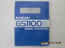 suzuki  gs1100g . manuel d'entretien . gs 1100 g