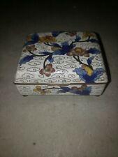 Antique Jewlery Box Vintage Glass Floral Design