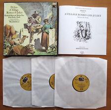 SLS 966 Delius A Village Romeo & Juliet Meredith Davies 3xLP EMI Angel NM/EX