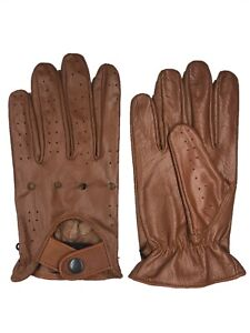 MEN'S CHAUFFEUR  REAL COWHIDE LEATHER CAR DRIVING GLOVES