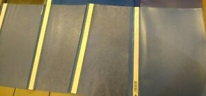Four A4 Plastic Wallet Folder Binders - Blue