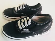 VANS Toddler Boys Girls Kids Athletic Sneakers Shoes Size 9 Black Canvas