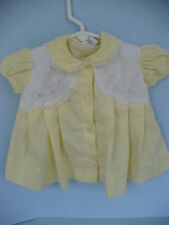 Vintage Baby Girls Yellow Dress Made In The Philippenes