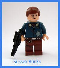 Lego Star Wars-Han Solo Minifigur mit Blaster aus Set 6212 sw088-sehr guter Zustand