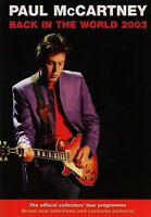 PAUL McCARTNEY 2003 BACK IN THE WORLD TOUR CONCERT PROGRAM BOOK / NMT 2 MINT