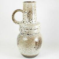 """Mid Century Modern Scheurich 19"""" Fat Lava Floor Vase 428-48 W. Germany Modernist"""