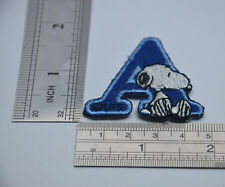 "LETTER A SNOOPY ALPHABET 1 1/2"" 4cm Sew Iron on Cloth Patch Applique Embroidery"