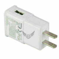 USB Home Wall Charger 5V AC Adapter US Plug For Samsung Galaxy Phones LG White