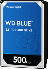 """WD Blue 500GB 7200 RPM SATA 6Gb/s 3.5"""" Desktop Hard Drive WD5000AAKX"""