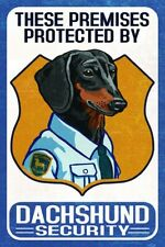 Dachshund Postcard Security (E61)