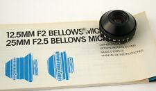 Minolta Bellows Micro 2,5/25 25 25 mm f2, 5 2,5 Lens Lentille Loupe Loupe RMS
