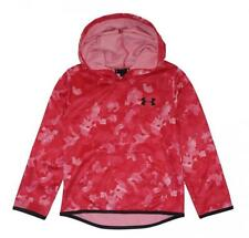 Under Armour Girls Pink Printed Pull-Over Hoodie Size 5