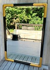 Vintage Friedman Brothers The Whitmore #1876 Black & Gold Chinoiserie Mirror