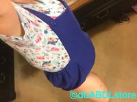 Navy blue backless Adult baby Romper bodysuit AB/DL