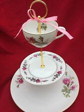 3 Tier Serving Tray Cake Stand Wedding Moss Rose Bridal Tea Party Mix Match 3in1