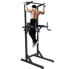 Lonabr Adjustable Power Tower Dip Station Pull Up Bar Home Gym Equipment Fitness