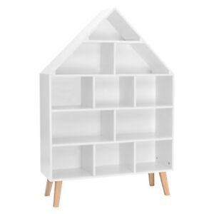 WOLTU Kinder Bücherregal Hausform Kinderregal mit 5 Ebenen für Kinder KR010