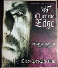WWE WWF Vintage Over the Edge 1999 Poster 16x20 Undertaker