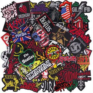 Iron on Patch Music Band Punk Rock N Roll Heavy Metal Reggae Wholesale Random